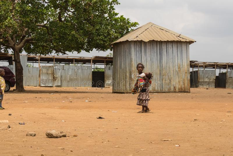 Biedni wiejscy afrykańscy dzieci 17 zdjęcie stock