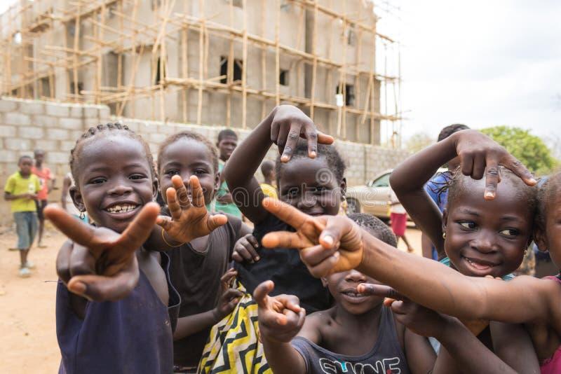 Biedni wiejscy afrykańscy dzieci 7 zdjęcie royalty free