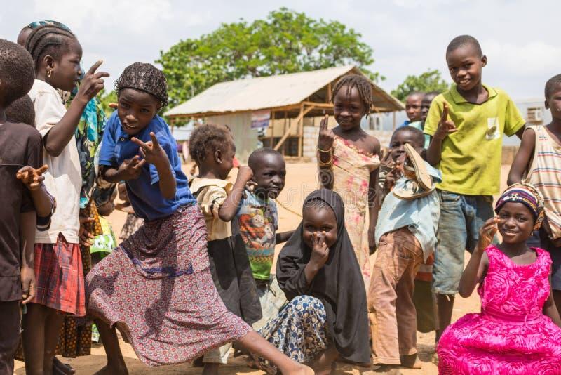 Biedni wiejscy afrykańscy dzieci 3 obraz royalty free