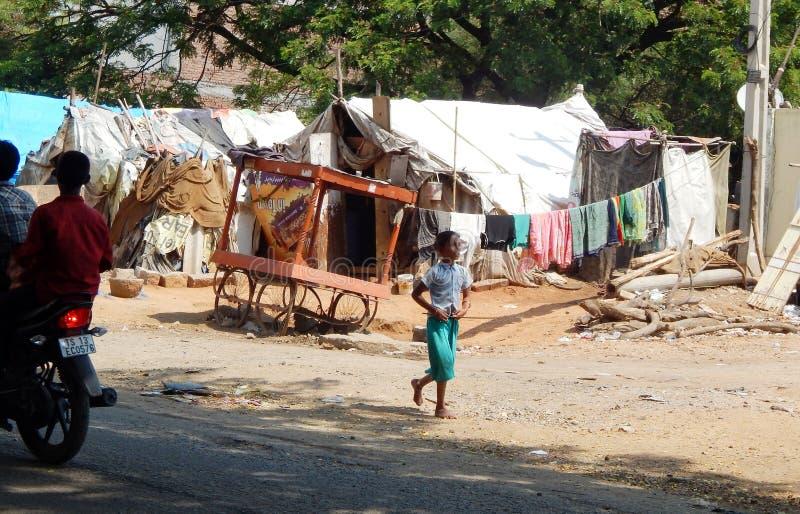 Biedny Indiański chwilowy dom fotografia royalty free