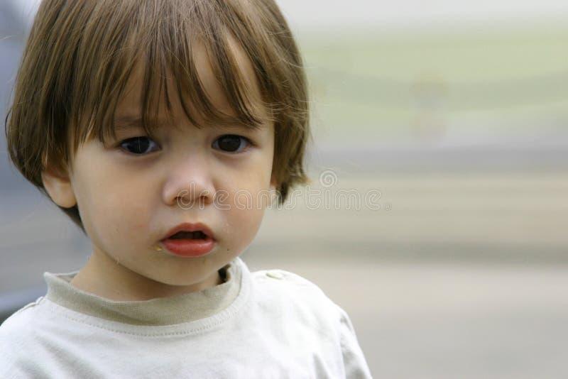biedny zagubioną dziecko trochę