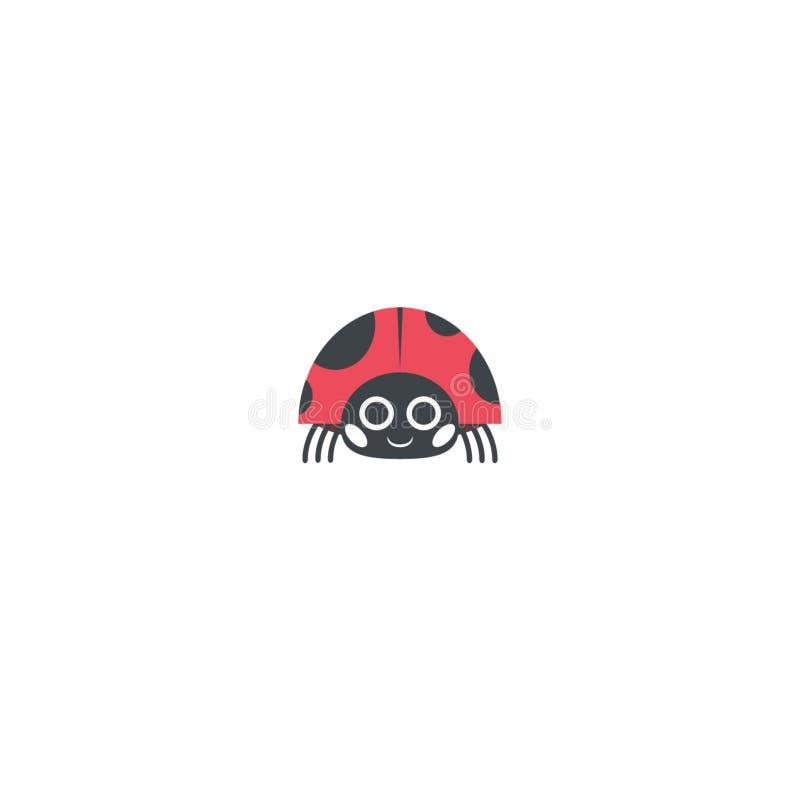 Biedronki lub ladybird grafiki ilustracja ilustracji