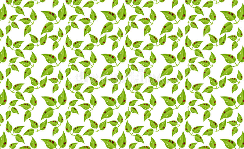 Biedronki na liścia wzorze fotografia stock