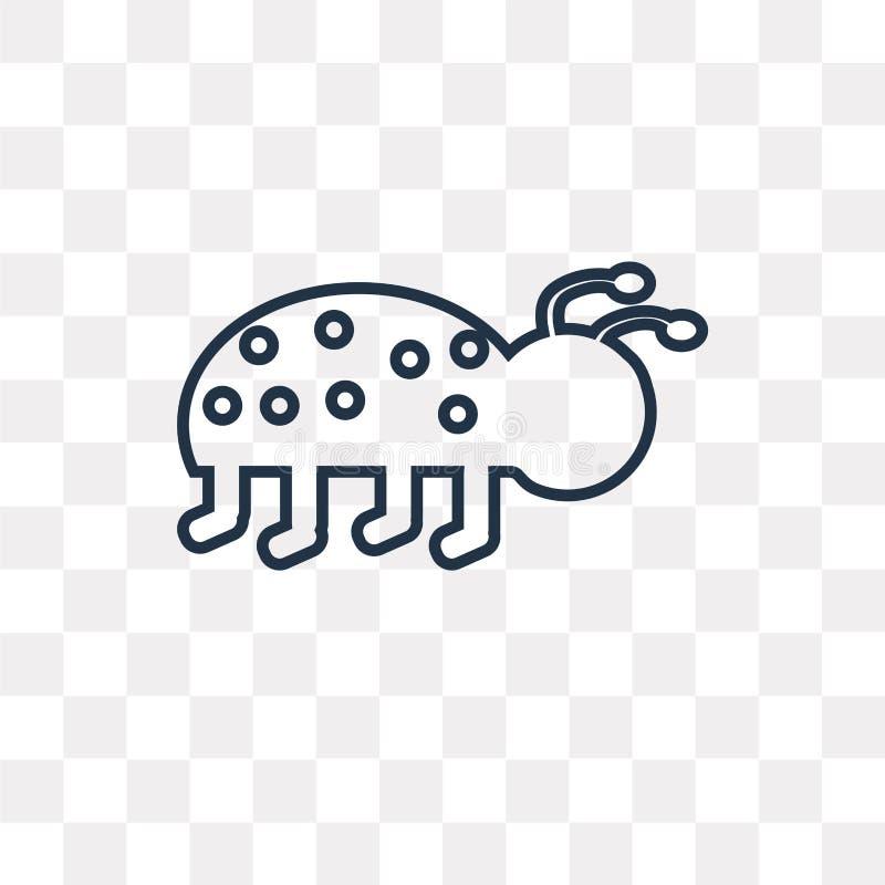 Biedronki wektorowa ikona odizolowywająca na przejrzystym tle, liniowy L ilustracja wektor