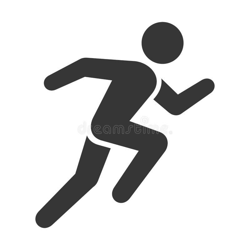 Bieg ikona 3d tła wizerunek odizolowywający mężczyzna bieg biel wektor ilustracja wektor