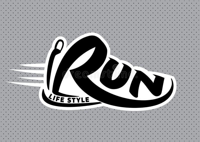 Bieg literowania emblemat ilustracji