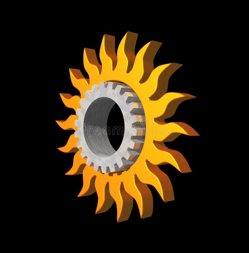 bieg logo słońce ilustracji