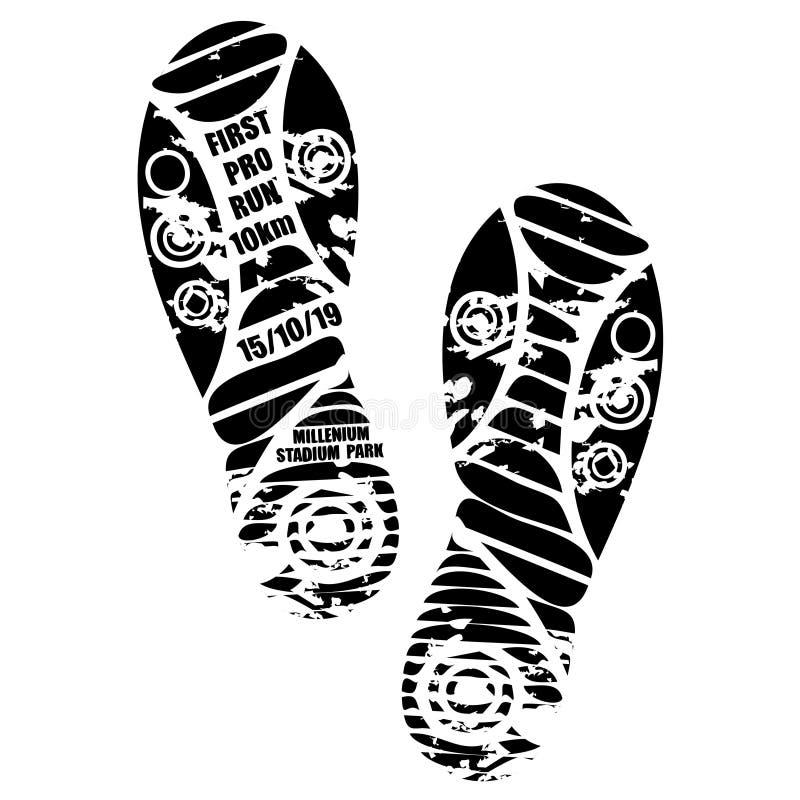 Bieg maratonu tapety butów druk royalty ilustracja