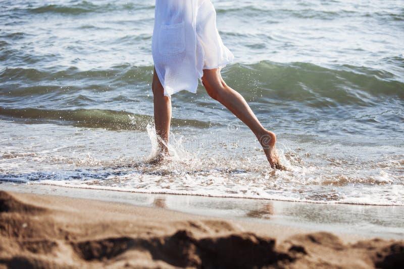 Bieg przez morza zdjęcie stock