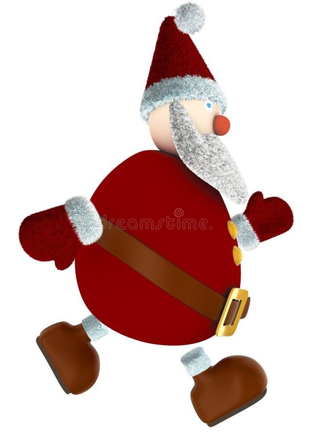 Biegać 3D Święty Mikołaj obraz stock