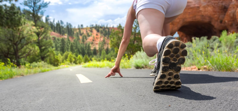 Biegaczów cieki w sporcie kują zbliżenie zdjęcia royalty free