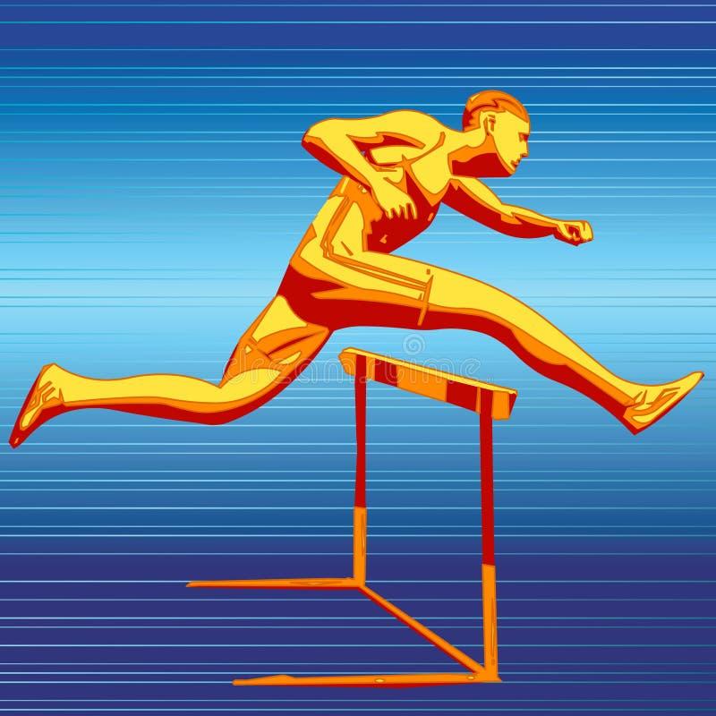 biegacz ilustracja wektor