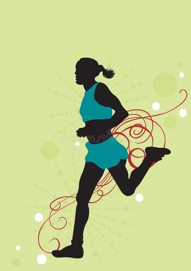 biegacz royalty ilustracja