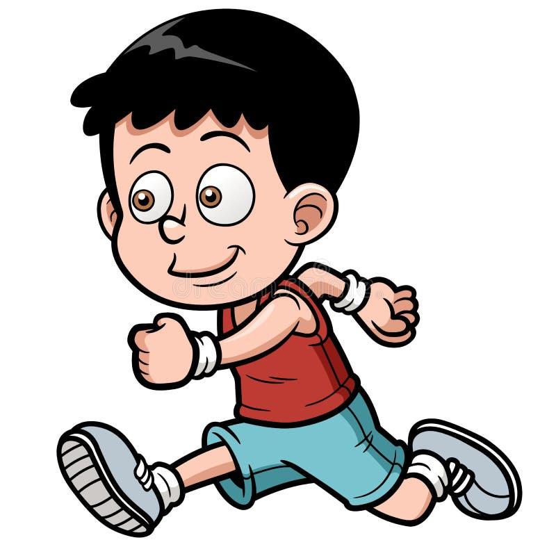 Biegacz chłopiec ilustracji