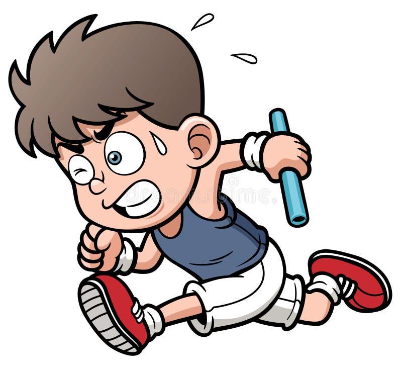 Biegacz chłopiec ilustracja wektor