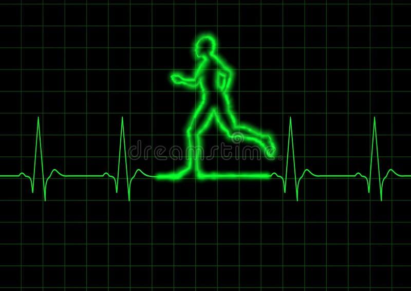 biegacz ekg ilustracja wektor