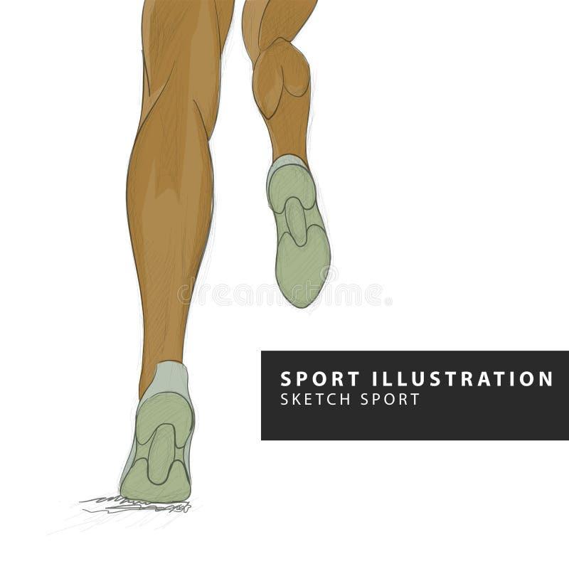 Biegacz iść na piechotę ilustrację ilustracji