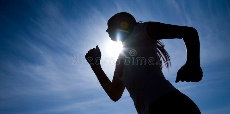 biegacz sylwetka zdjęcia royalty free