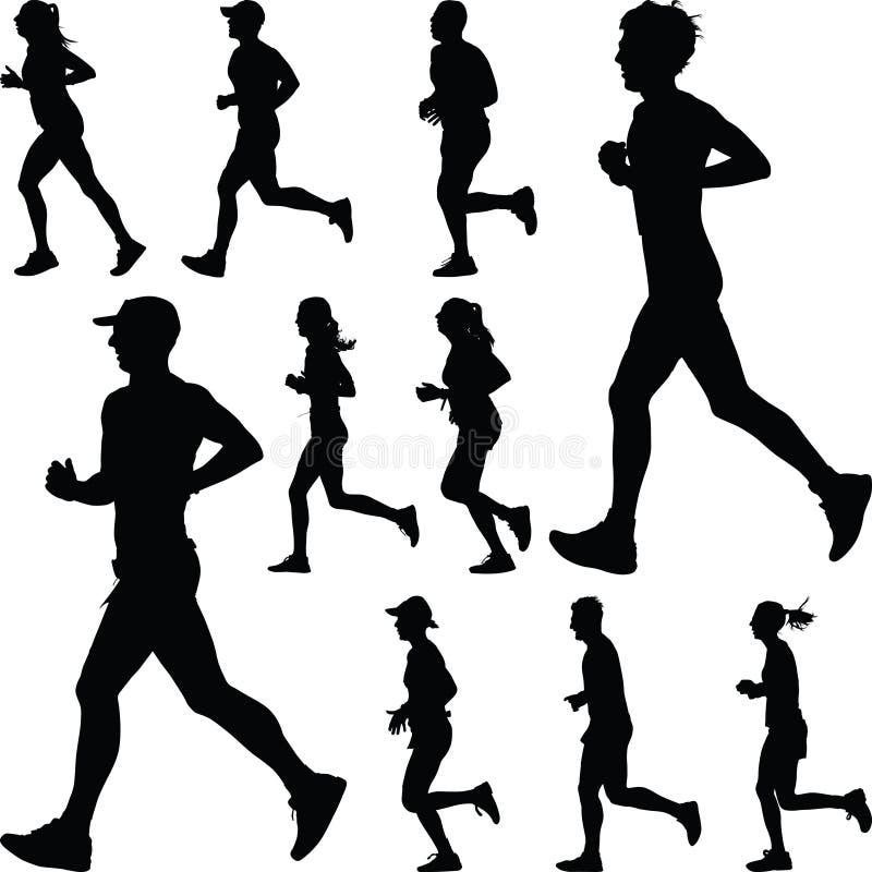 Biegacz sylwetka joggle zdjęcia royalty free