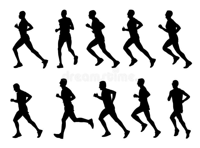 Biegacz sylwetki ilustracji