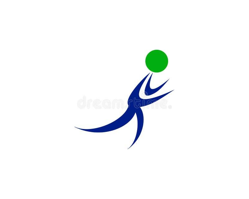Biegacza logo ilustracja wektor