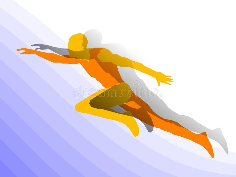 Biegacza mężczyzna ilustracja wektor