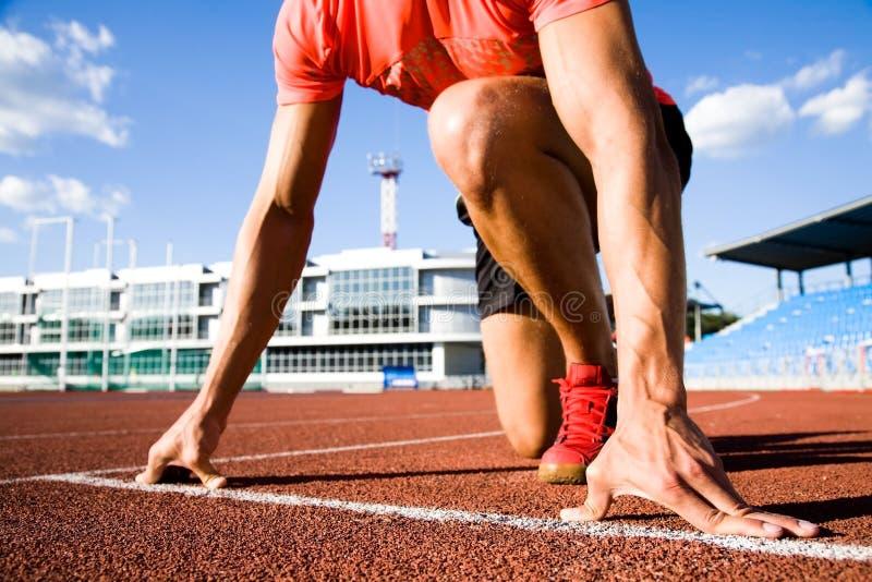 biegacza początek zdjęcie royalty free