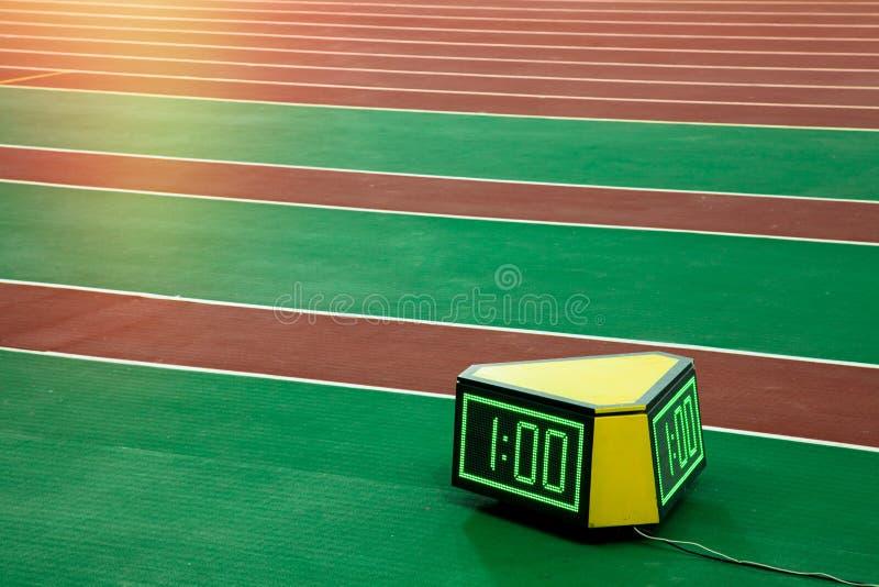 Biegacza stopwatch chronometr obraz stock