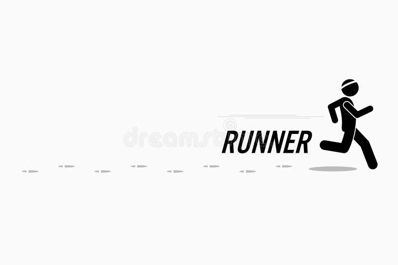 Biegacza szkolenie i bieg royalty ilustracja