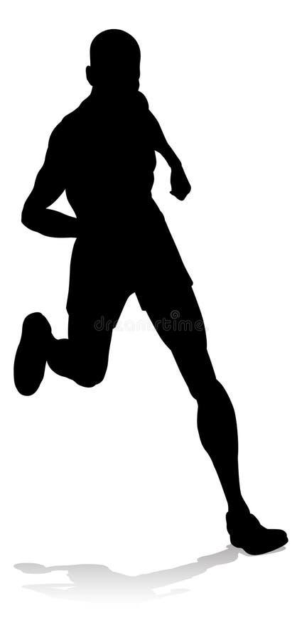 Biegacza zawody atletyczni Bieżna sylwetka ilustracji