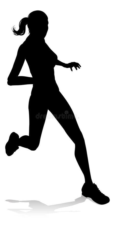Biegacza zawody atletyczni Bieżna sylwetka ilustracja wektor