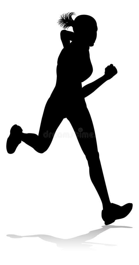 Biegacza zawody atletyczni Bie?na sylwetka ilustracji