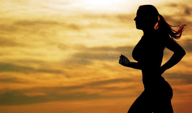 biegacza zmierzch zdjęcia royalty free