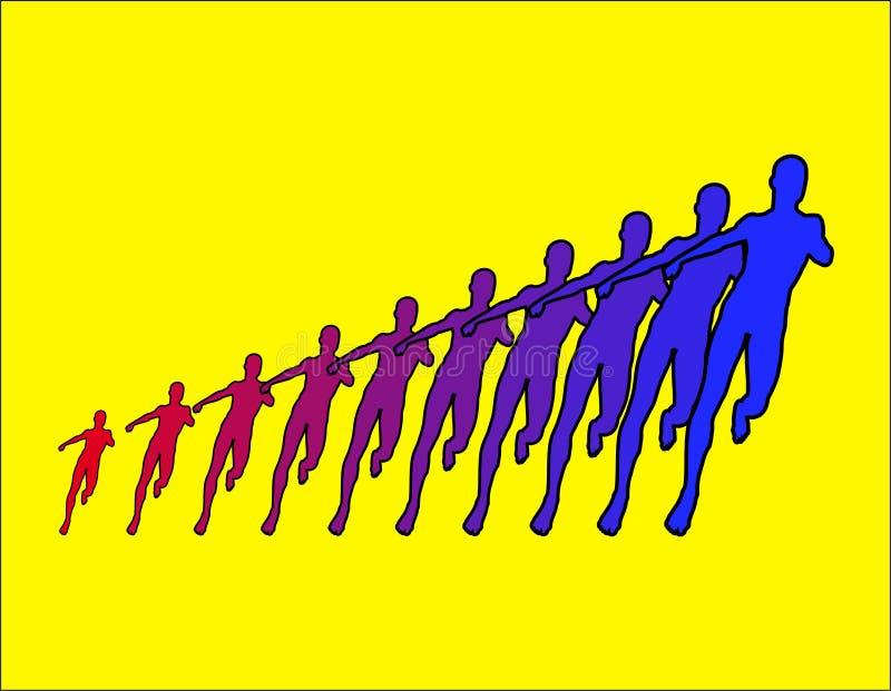 Download Biegacze 2 ilustracji. Obraz złożonej z arte, kontrast - 622413