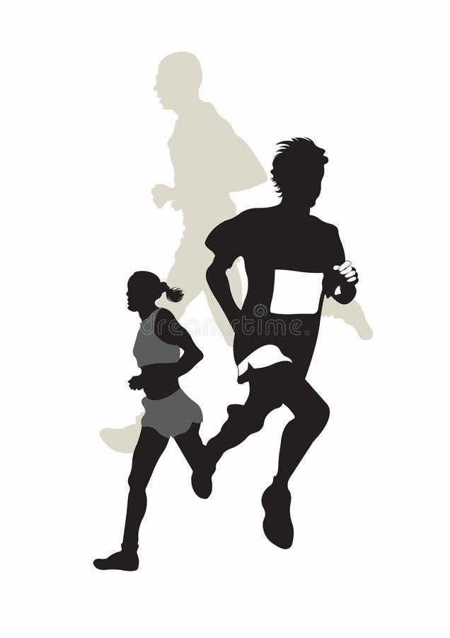 biegacze royalty ilustracja