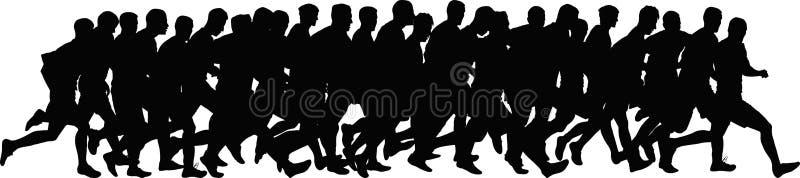 biegacze ilustracja wektor