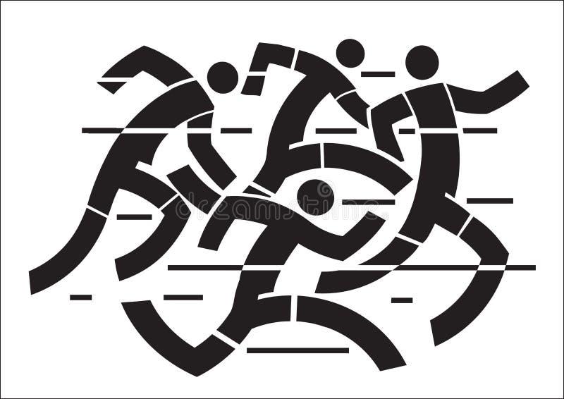 Biegacze turniejowi royalty ilustracja