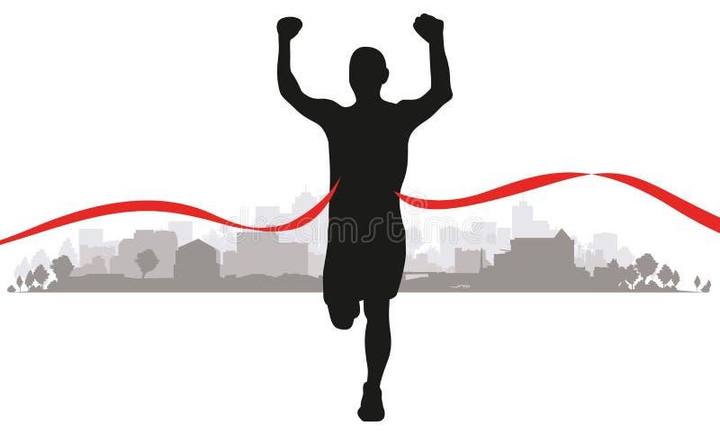 Biegacze w polu ilustracja wektor