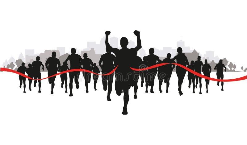 Biegacze w polu royalty ilustracja