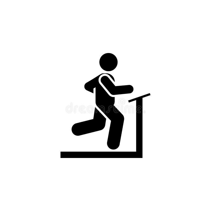 Biegający, mężczyzna, sporty, gym, ćwiczenie ikona Element gym piktogram Premii ilo?ci graficznego projekta ikona podpisz symboli ilustracji