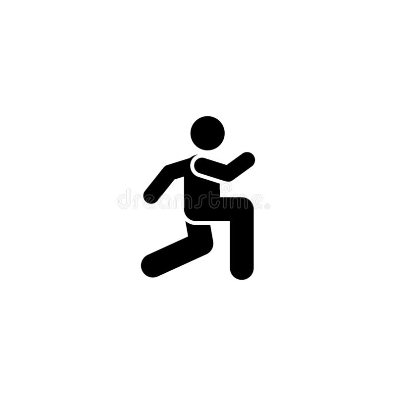 Biegający, mężczyzna, sporty, gym, ćwiczenie ikona Element gym piktogram Premii ilo?ci graficznego projekta ikona podpisz symboli ilustracja wektor