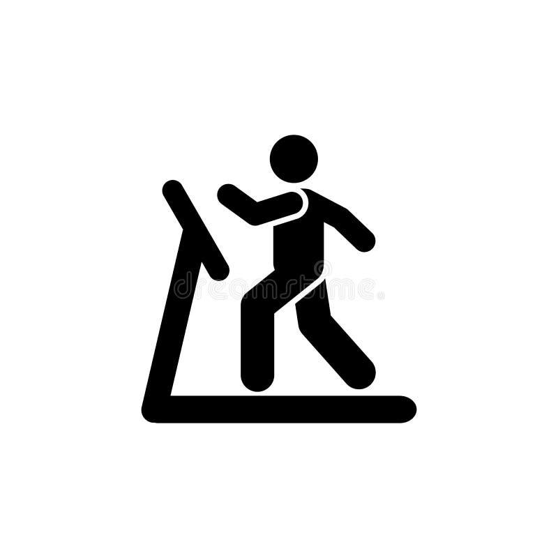 Biegający, mężczyzna, sporty, gym, ćwiczenie, stażowa ikona Element gym piktogram Premii ilo?ci graficznego projekta ikona znaki  royalty ilustracja