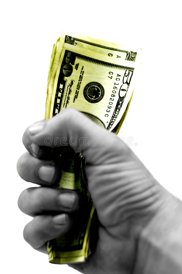 biegnij na pieniądze obraz stock