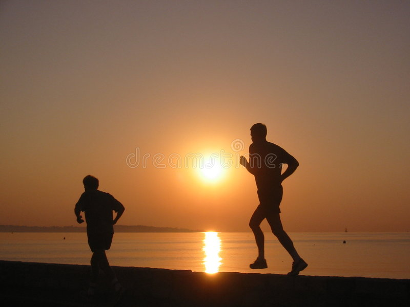 biegnij rano fotografia stock