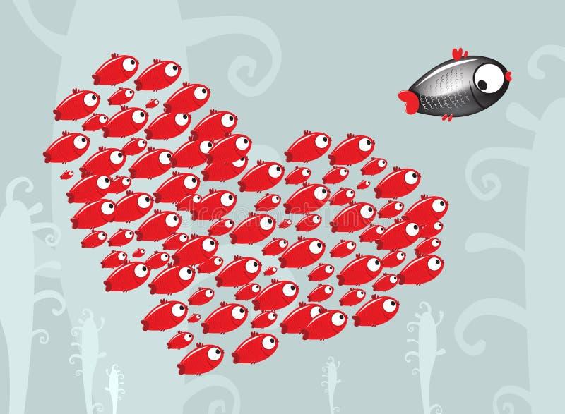 biegnij rybcia ilustracji