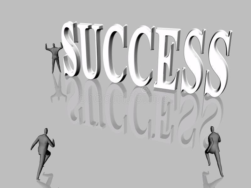 biegnij sukces royalty ilustracja