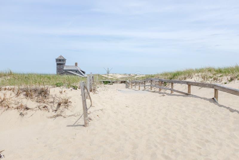 Biegowa punkt plaża obraz stock