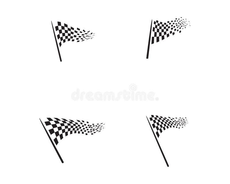 Biegowy chorągwiany ikona projekt royalty ilustracja