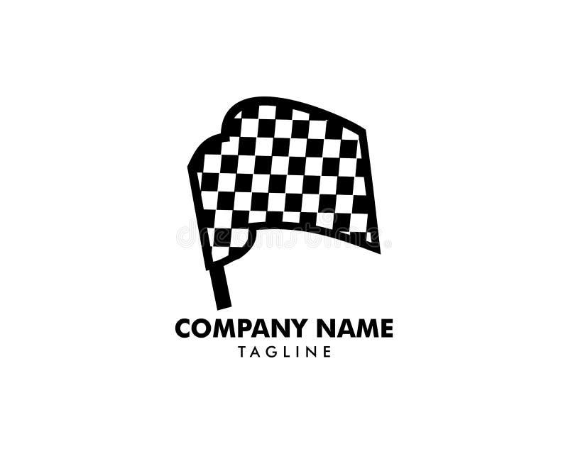 Biegowy chorągwiany logo projekta wektoru szablon ilustracja wektor