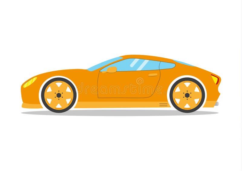 Biegowy sportowy samochód Supercar coupe strojeniowy samochód Mieszkanie transportu stylowy wektorowy pojazd royalty ilustracja